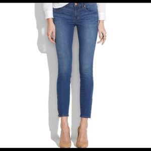 Madewell size 27 super skinny ankle zip jeans